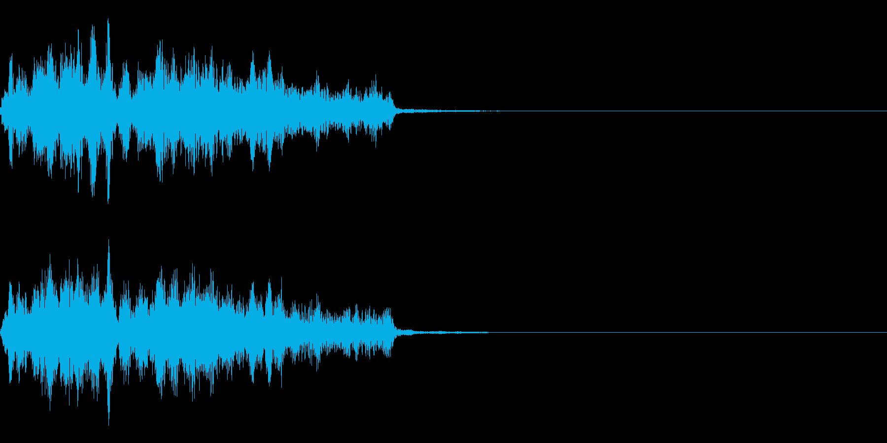 不気味な笑い声の再生済みの波形