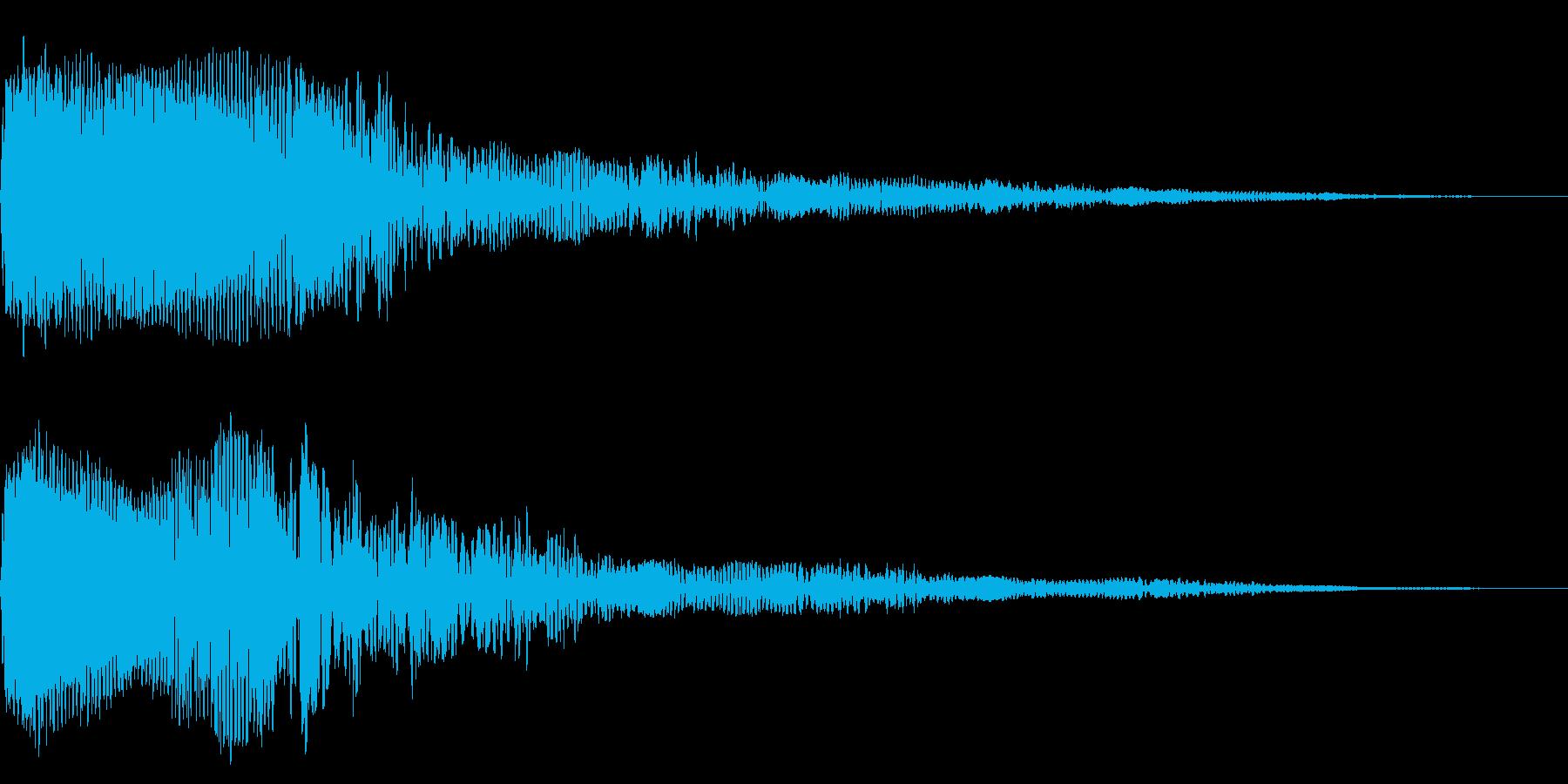 ホラー系アタック音61の再生済みの波形