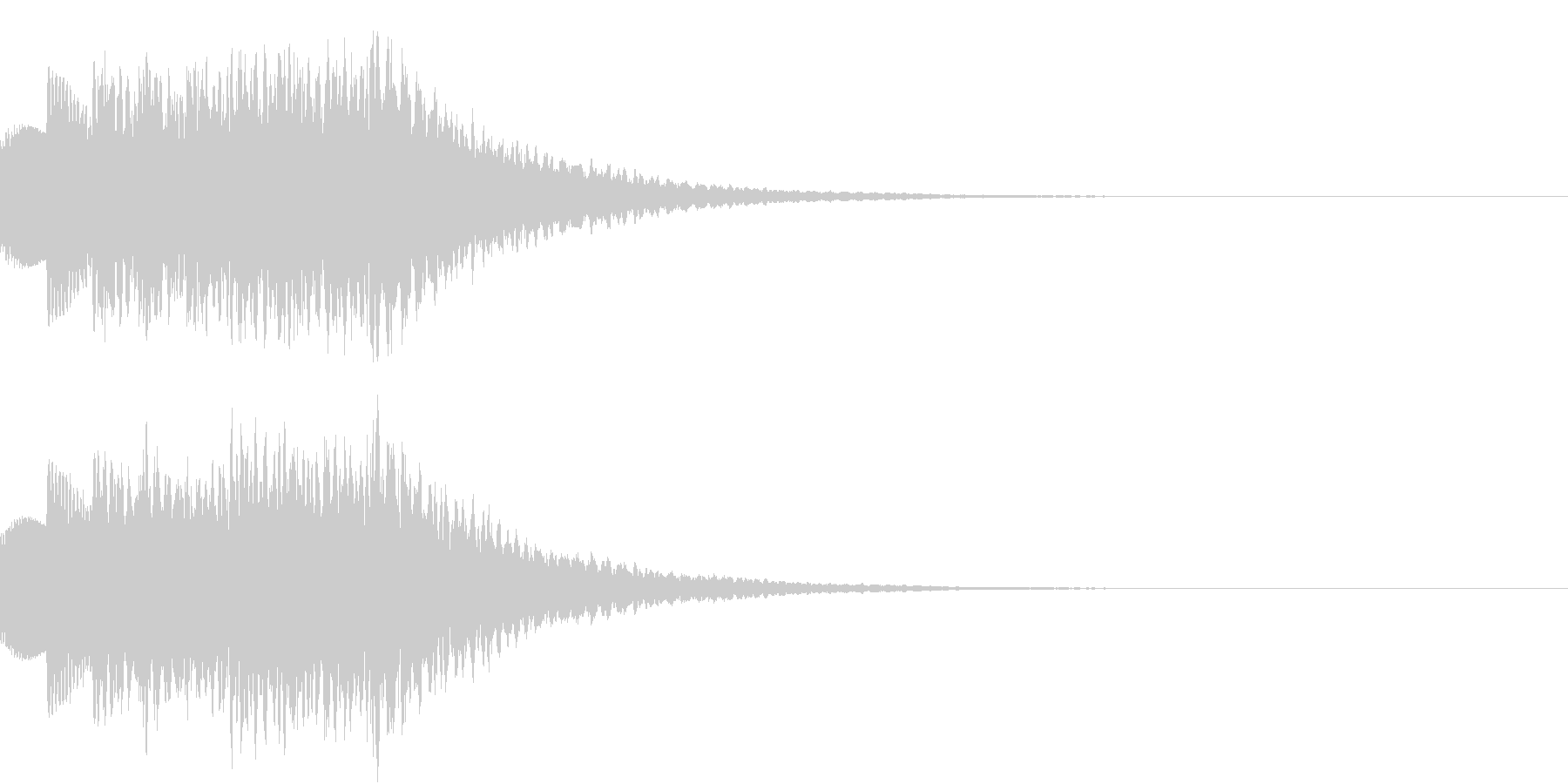 テロップ、タイムアップ等の未再生の波形