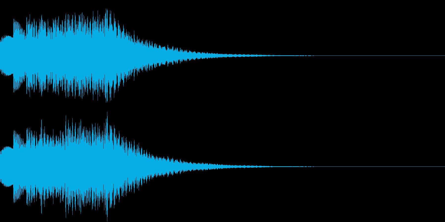 テロップ、タイムアップ等の再生済みの波形