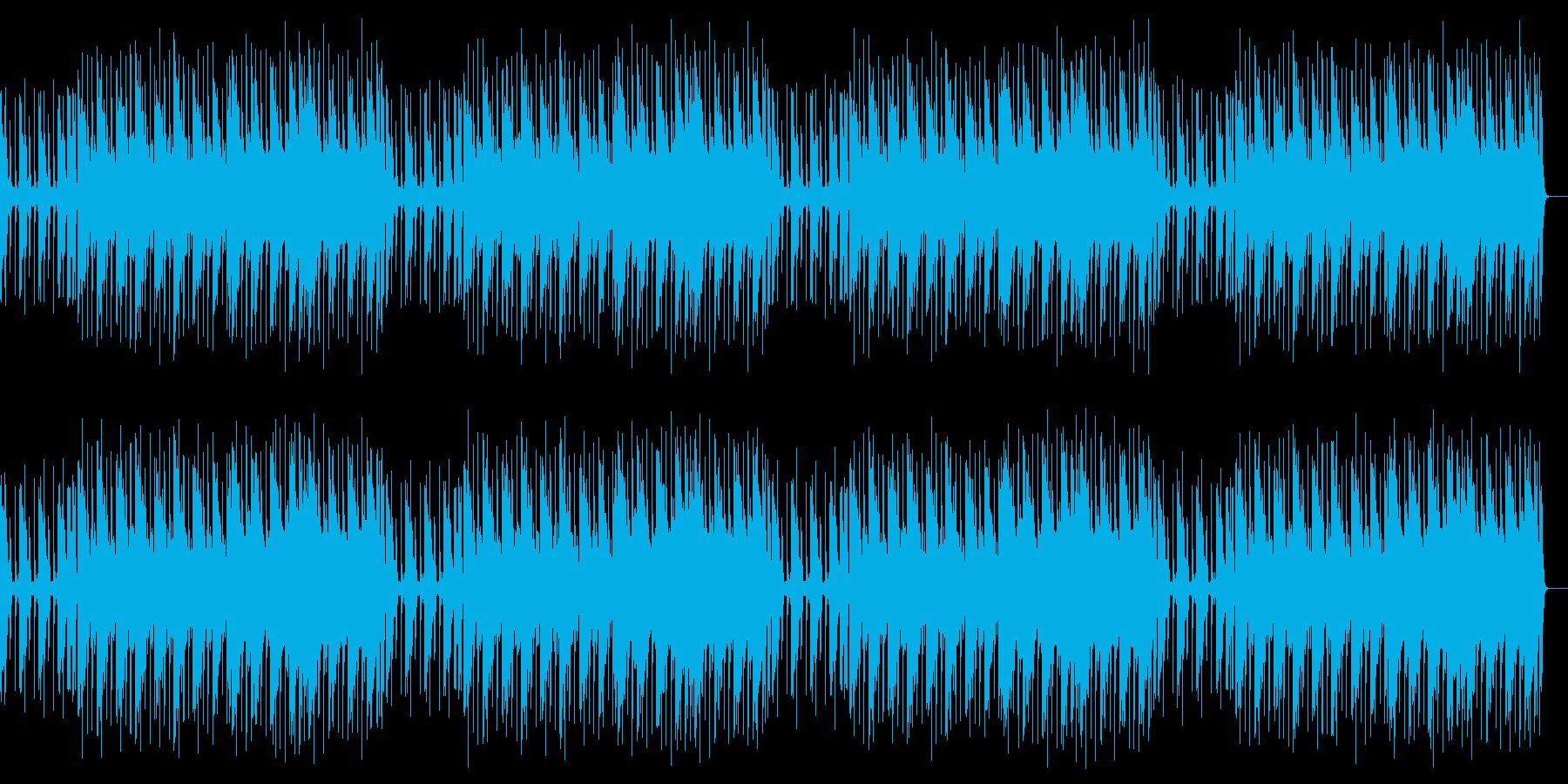 レトロ調の軽快な明るいチップチューンの再生済みの波形
