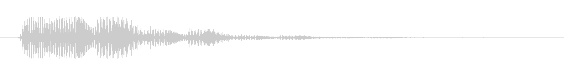 ファミコン風効果音決定音系です 05の未再生の波形