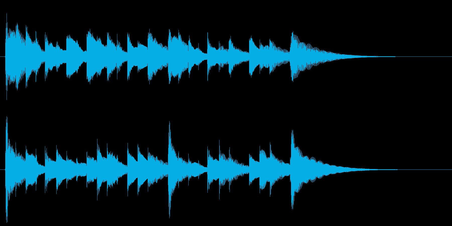 切ないガットギターのジングル 19秒の再生済みの波形