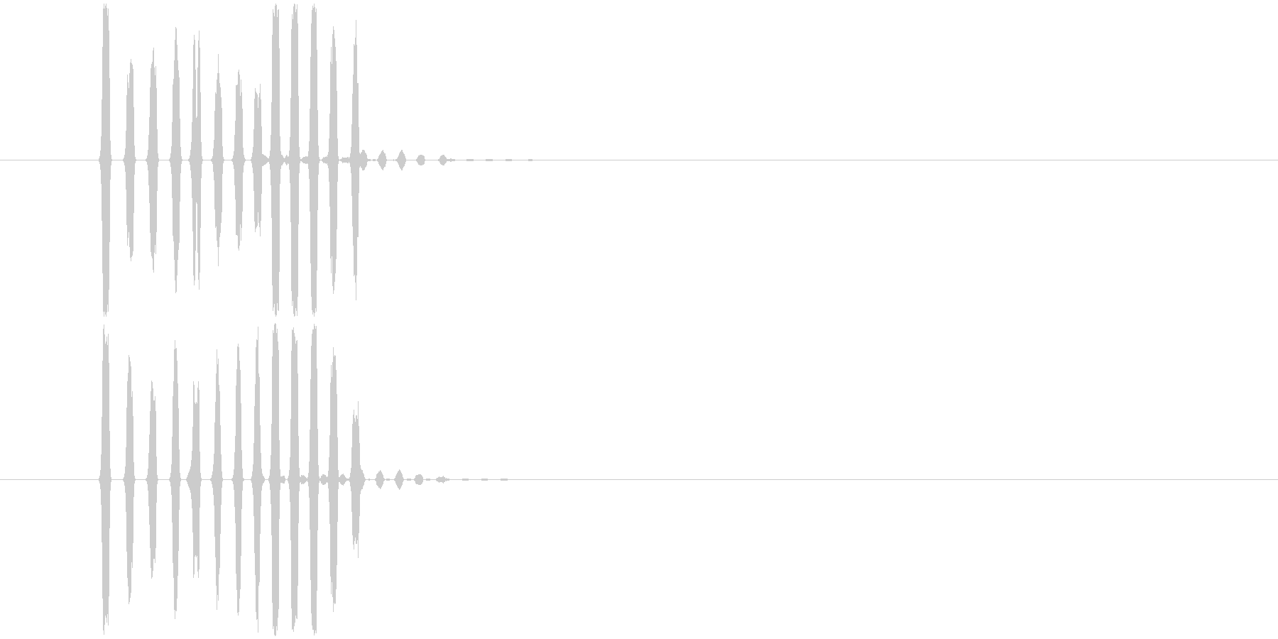 「表示」吹き出し/コミカル_003の未再生の波形