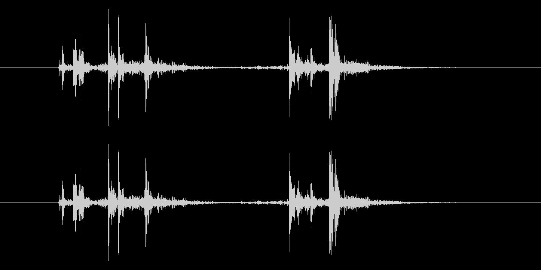 ガシャッ (銃器リロード音)の未再生の波形