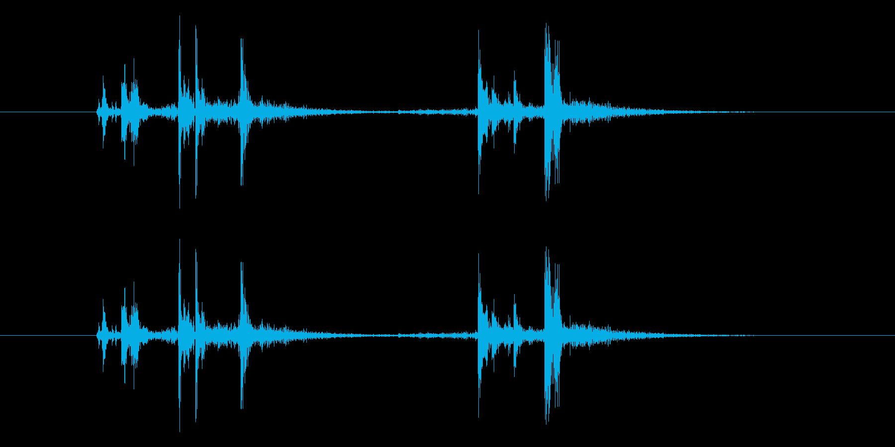 ガシャッ (銃器リロード音)の再生済みの波形