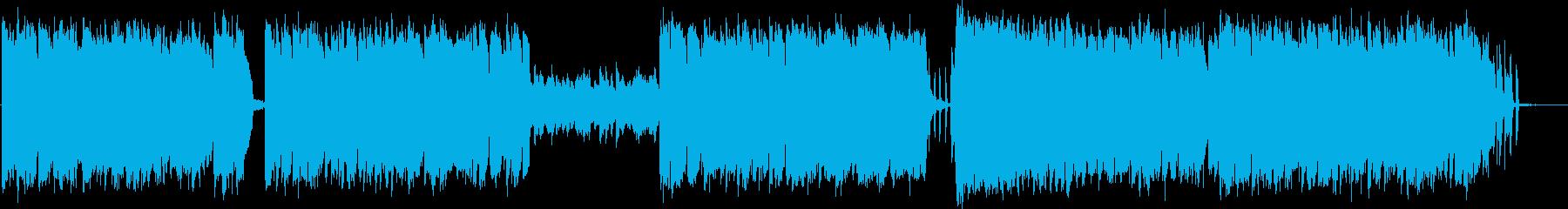 アコーディオンの民族的なケルトポップの再生済みの波形