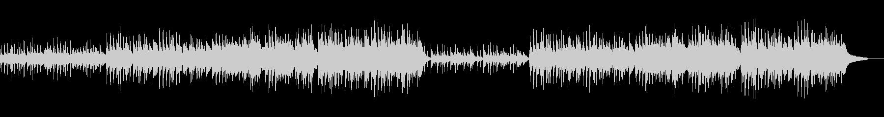 月明かりのピアノの未再生の波形
