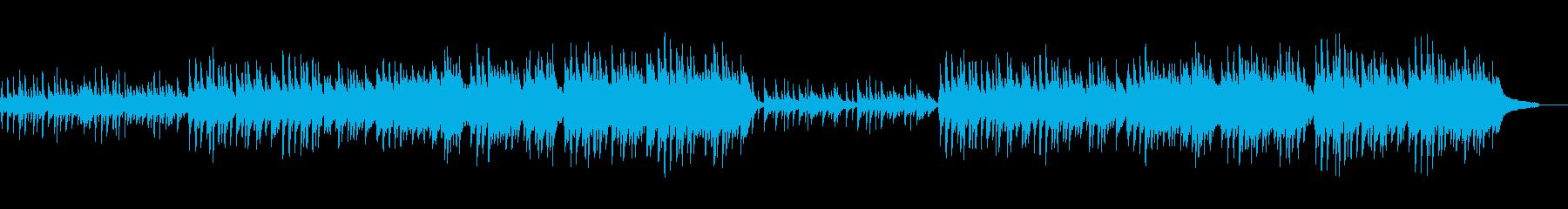 月明かりのピアノの再生済みの波形
