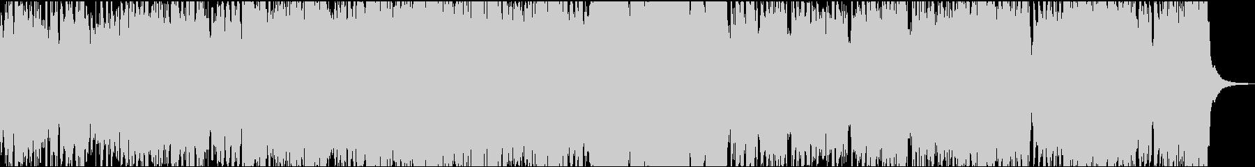 アコーディオンがメインのハロウィン風の曲の未再生の波形
