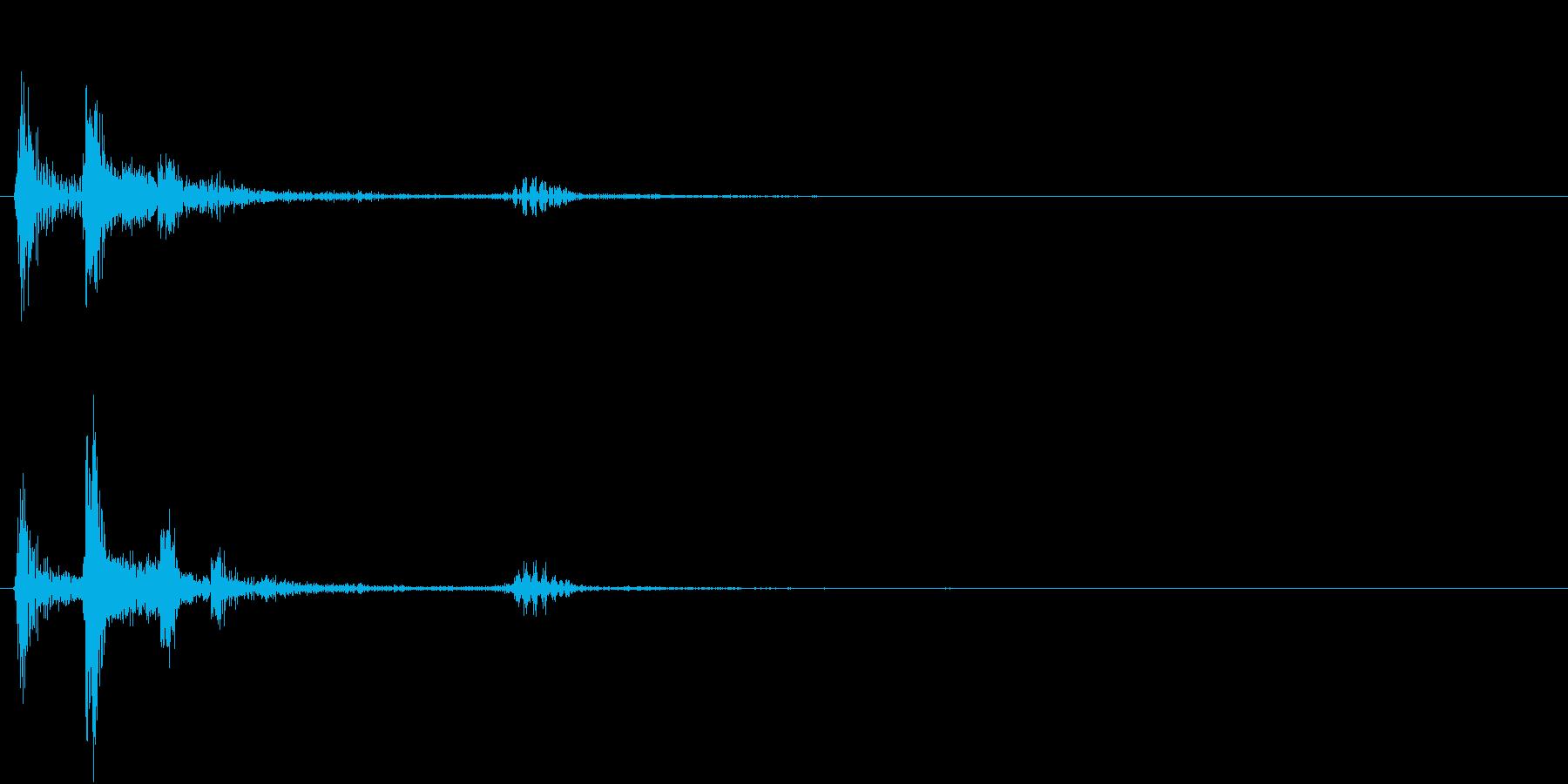 【生録音】お箸の音 お茶碗の底に当たるの再生済みの波形