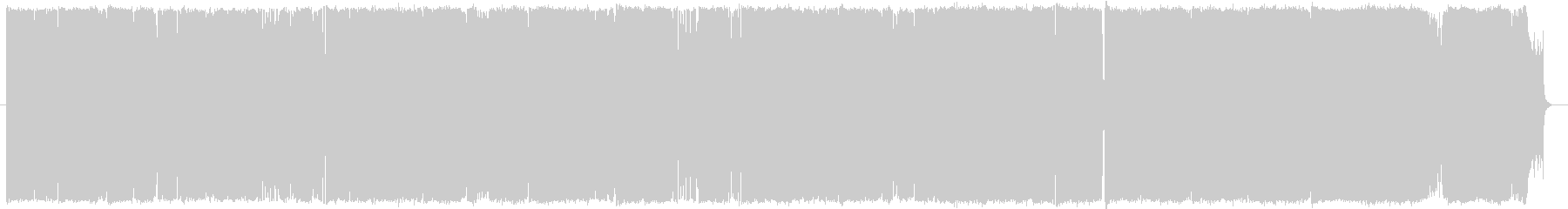 疾走感のあるピアノロックの未再生の波形