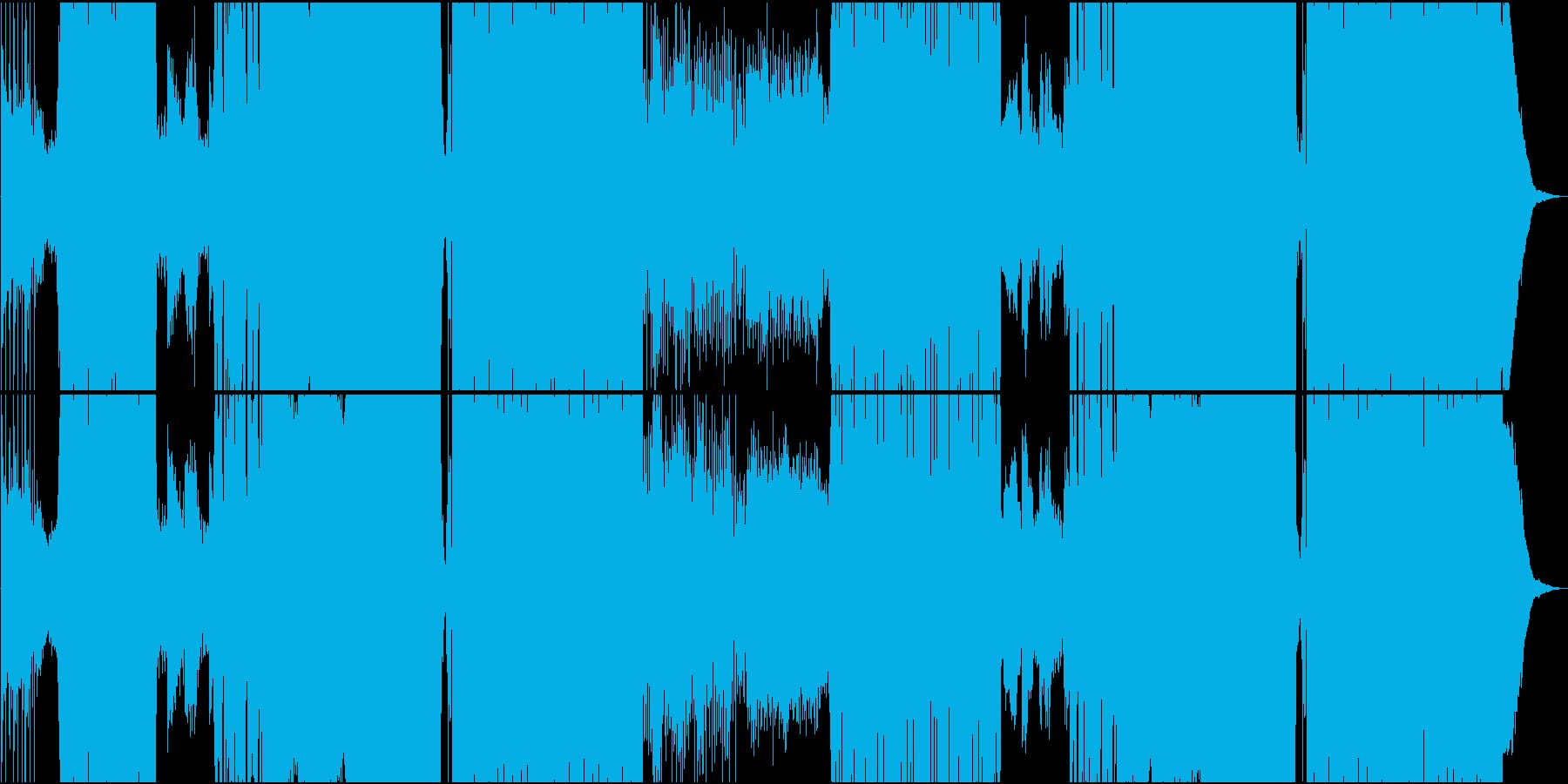 ポップでダンサブルなFutureBassの再生済みの波形