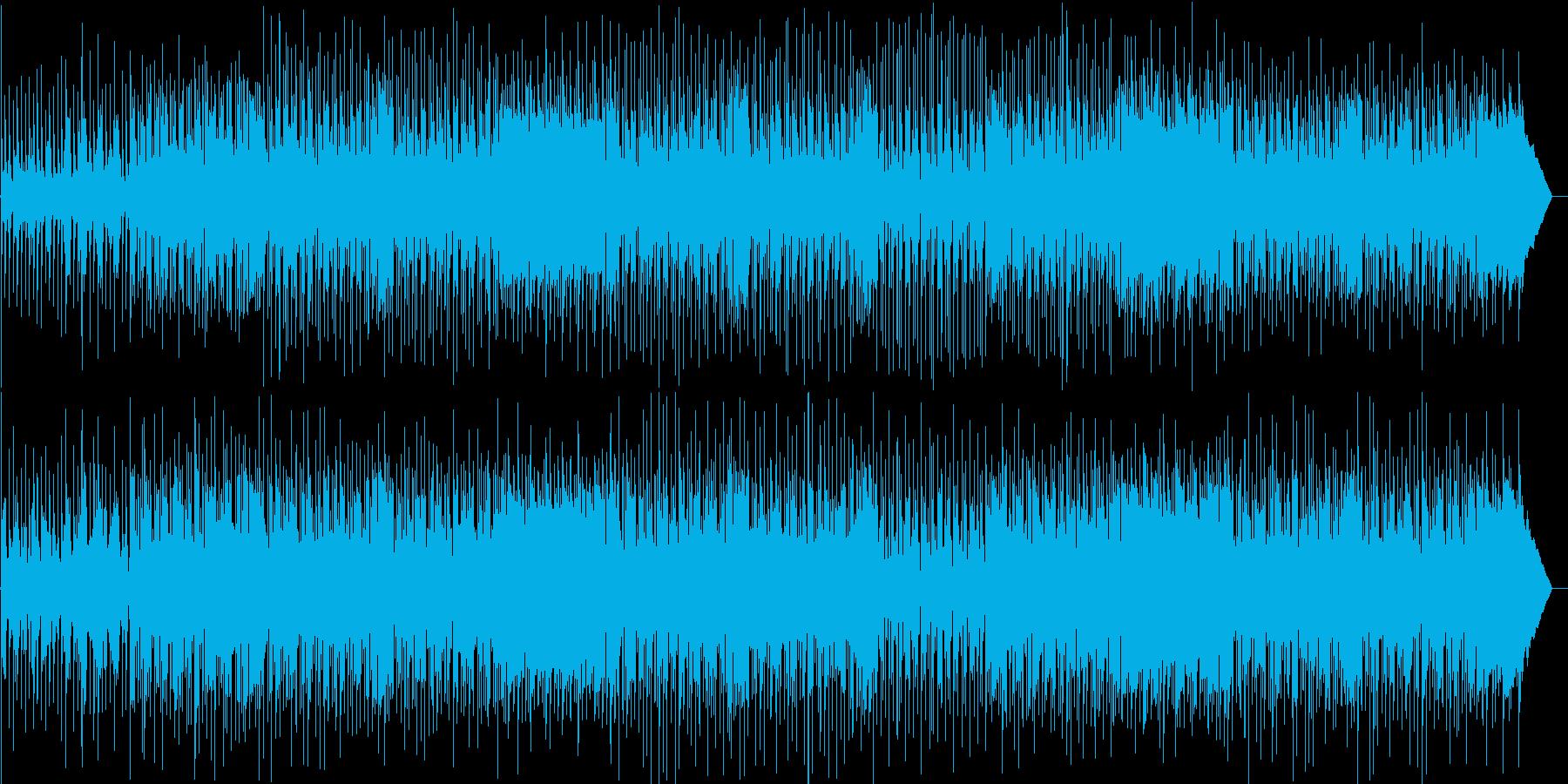 おしゃれなリズムで楽しいメロディーの再生済みの波形