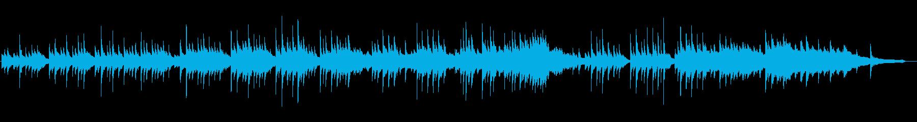 日本的な旋律のピアノソロ曲の再生済みの波形