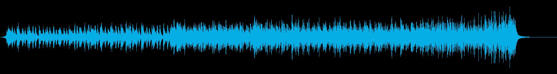 明るく前向きなピアノとストリングス曲の再生済みの波形