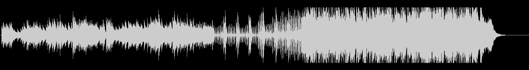 冬の訪れを告げるようなピアノ曲の未再生の波形