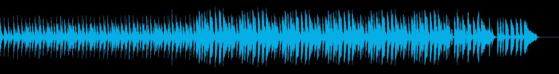 スローテンポドラム、ベース抜きの再生済みの波形