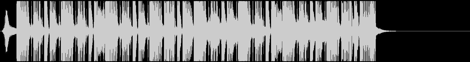 シャッフルのファンクロックBの未再生の波形