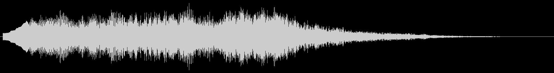 優しい音 柔らかい音のサウンドロゴ Bの未再生の波形