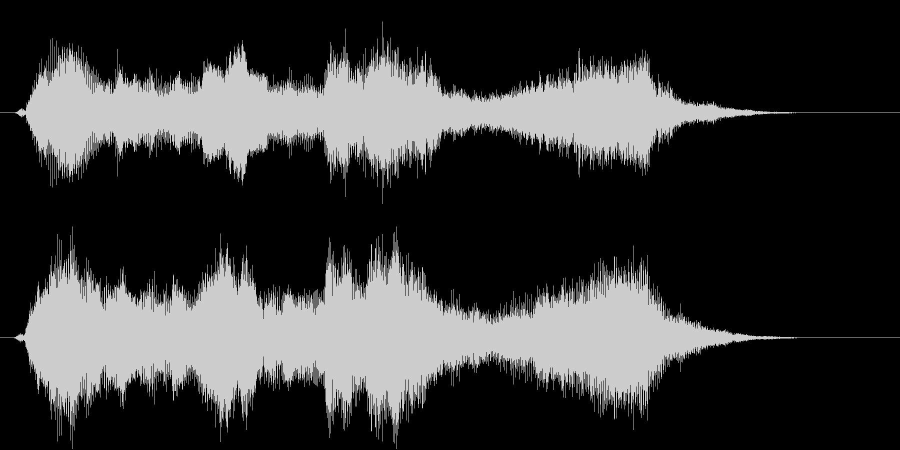 力強い金管楽器のファンファーレ!の未再生の波形