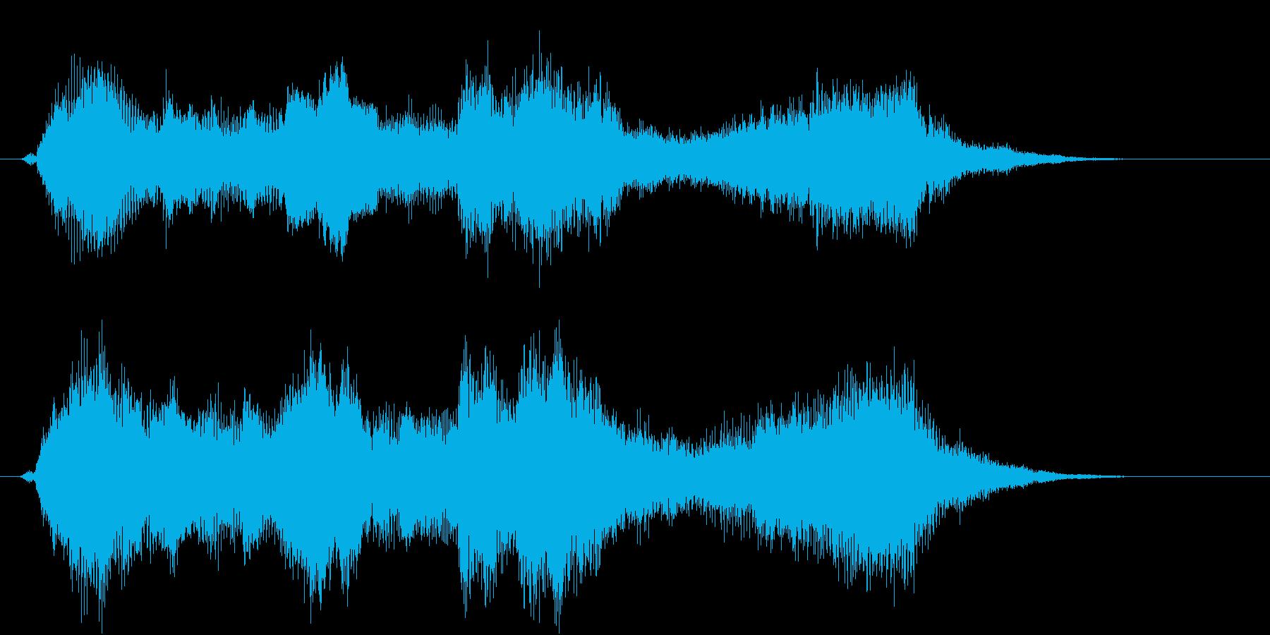 力強い金管楽器のファンファーレ!の再生済みの波形