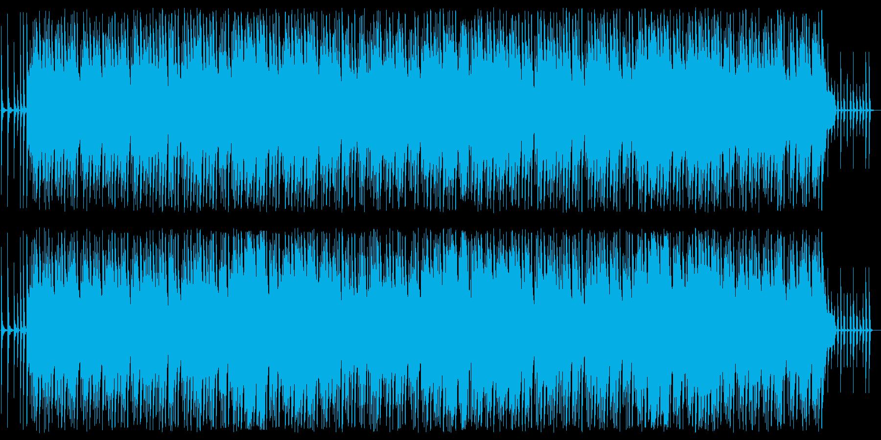 ほのぼのした軽快な沖縄風楽曲の再生済みの波形