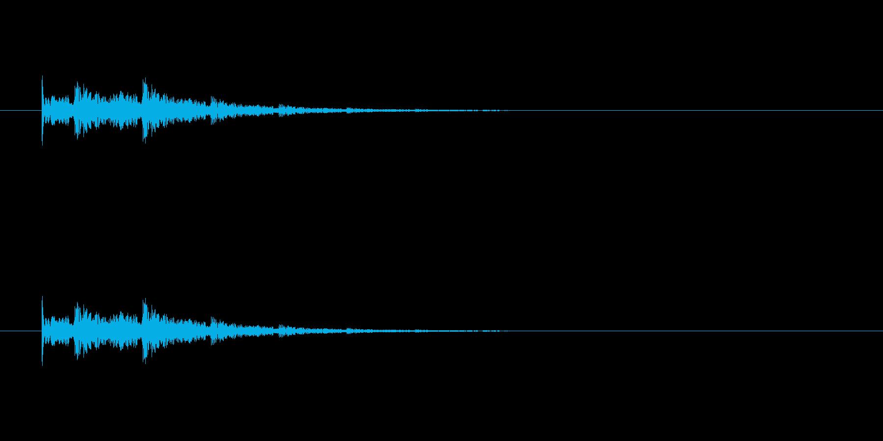 【アクセント33-3】の再生済みの波形
