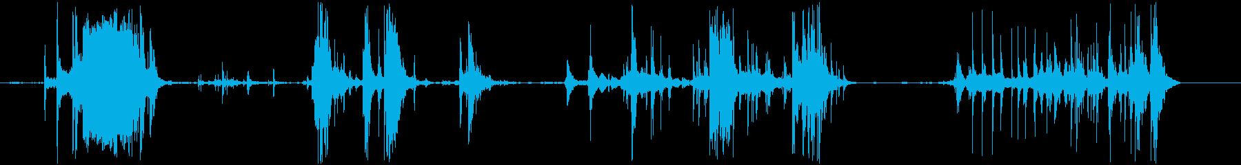 氷を容器に移す音の再生済みの波形