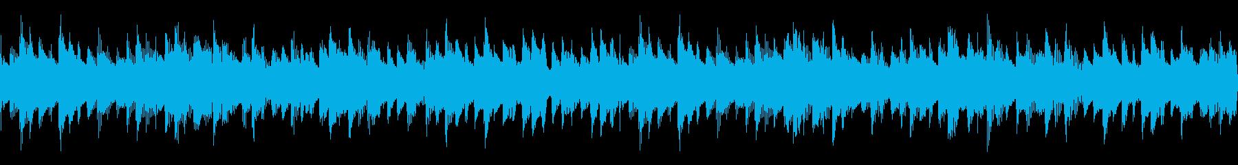 ポップなアコギと柔らかいオルゴールの曲の再生済みの波形