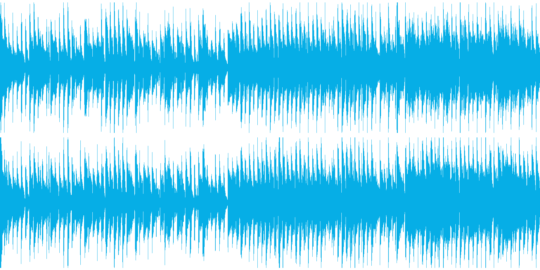マヌケな雰囲気の脱力リコーダー※ループ版の再生済みの波形