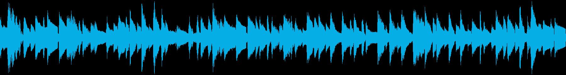 ジャズ・ピアノトリオのBGM:ループの再生済みの波形