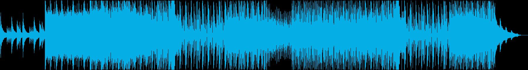 爽やかなピアノとシンセのエレクトロポップの再生済みの波形