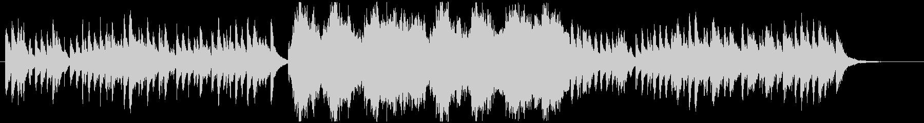 冬のトイピアノとストリングスBGMの未再生の波形