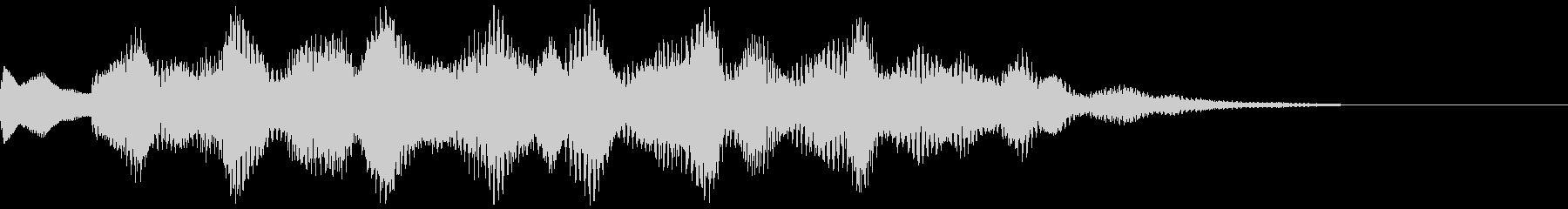 クールな印象のSEの未再生の波形