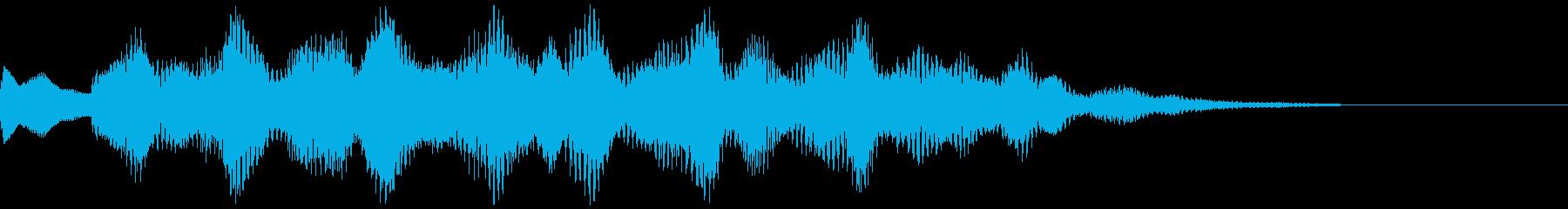クールな印象のSEの再生済みの波形