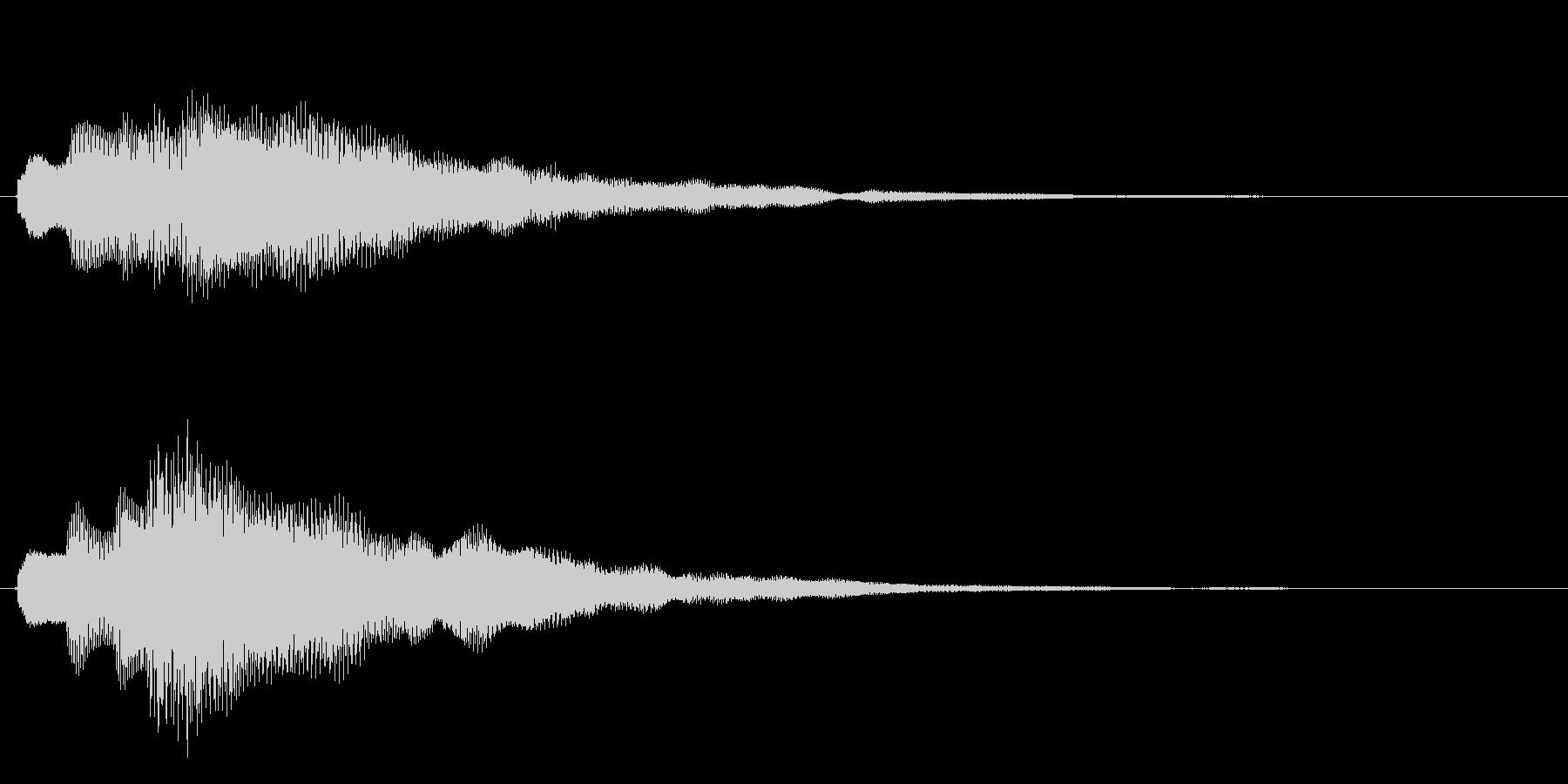 キラキラしたベルの上昇音1の未再生の波形