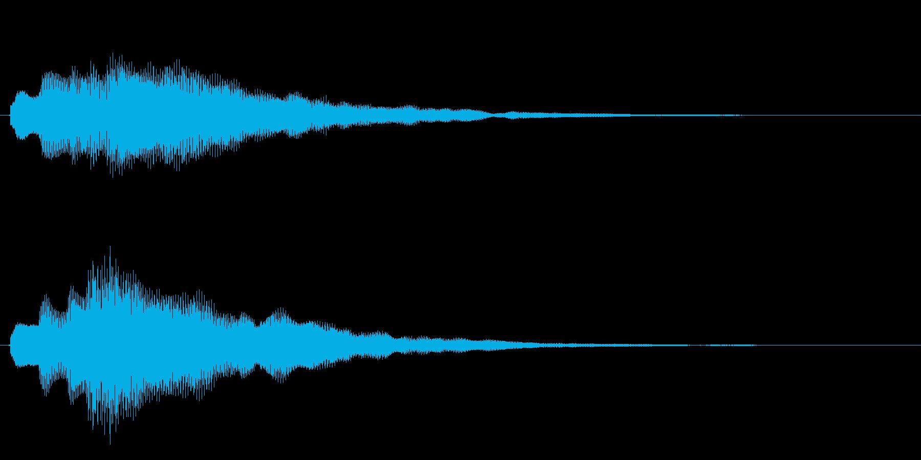 キラキラしたベルの上昇音1の再生済みの波形