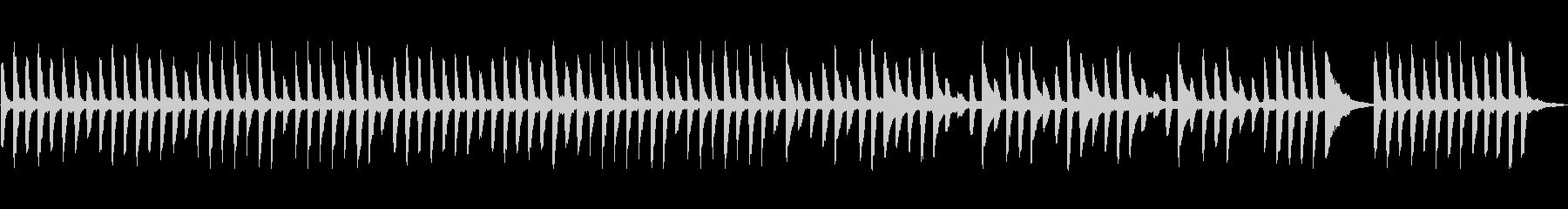 ほのぼのな雰囲気のピアノ曲の未再生の波形