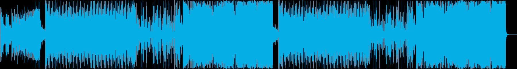 クラブ系ハードEDM、K-POPトラックの再生済みの波形