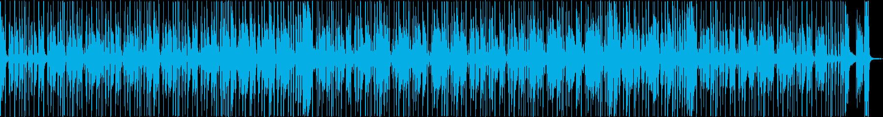 ベースが印象的な重低音トラックの再生済みの波形