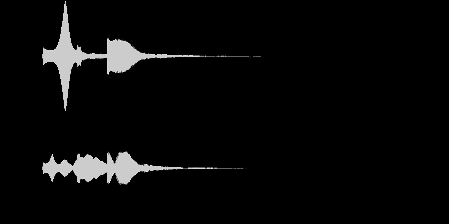 ピポパ(お知らせ音・解説・注目・表示)の未再生の波形