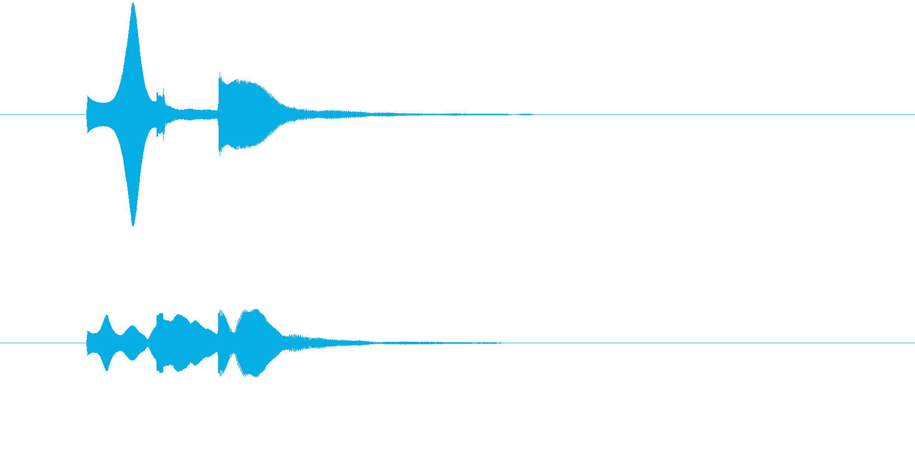 ピポパ(お知らせ音・解説・注目・表示)の再生済みの波形