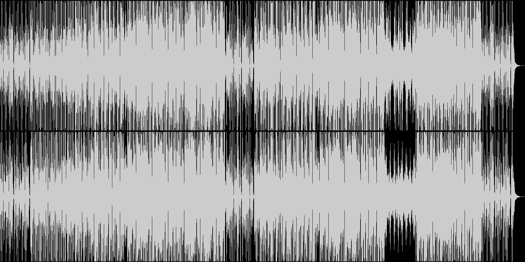 ドライブしながらリズミカルなピアノビートの未再生の波形