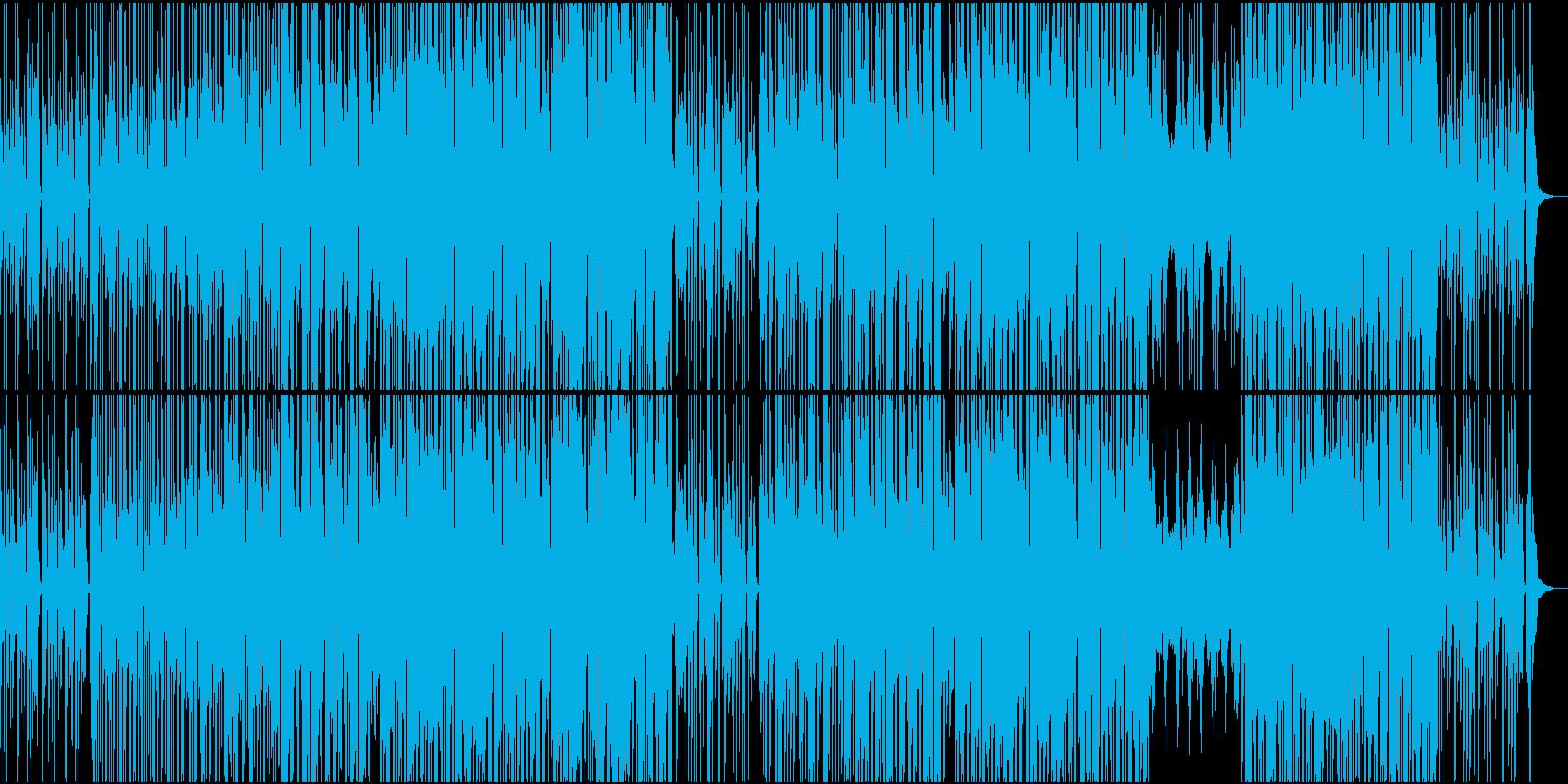 ドライブしながらリズミカルなピアノビートの再生済みの波形