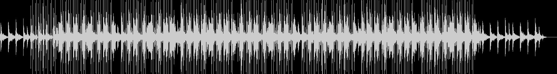 リラックスできる電子音のチルミュージックの未再生の波形