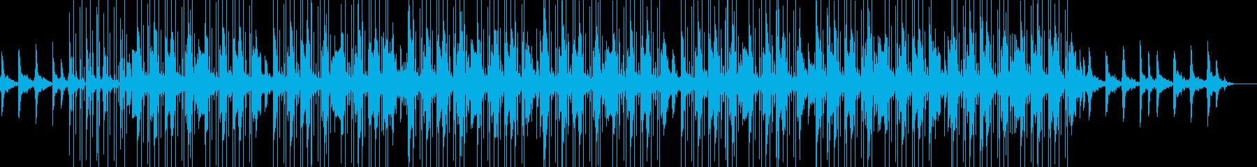 リラックスできる電子音のチルミュージックの再生済みの波形