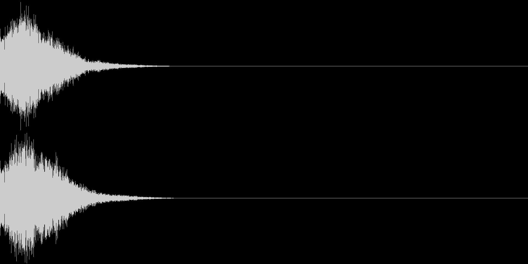 刀 剣 カキーン シャキーン 目立つ15の未再生の波形