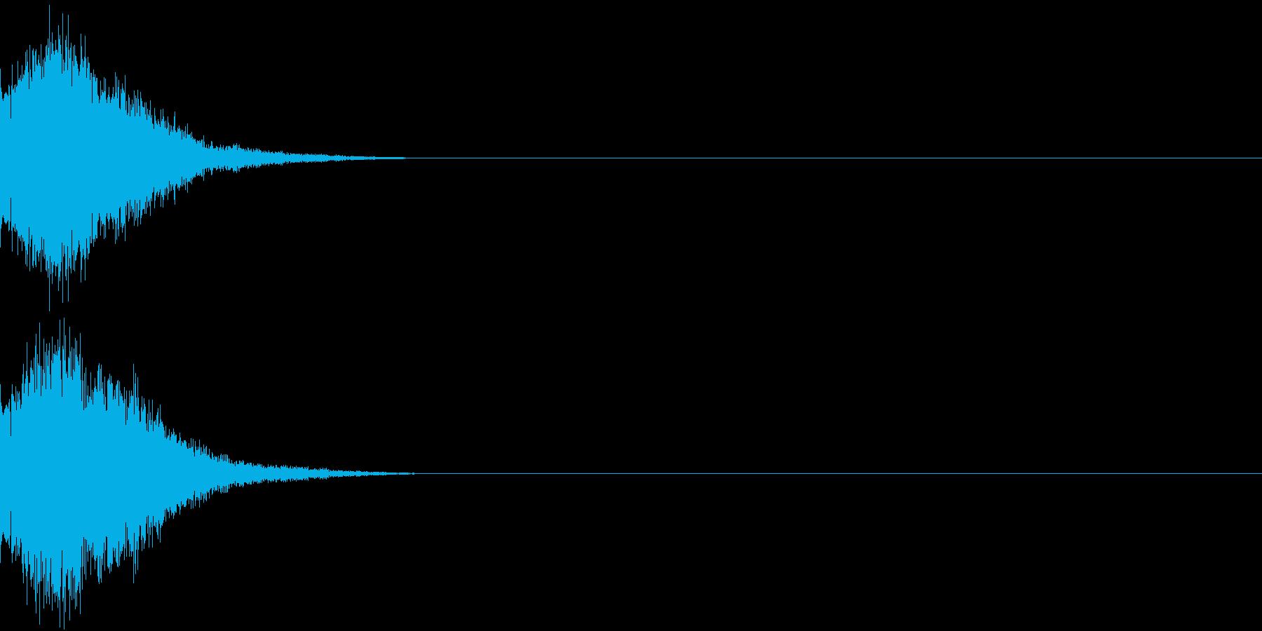 刀 剣 カキーン シャキーン 目立つ15の再生済みの波形