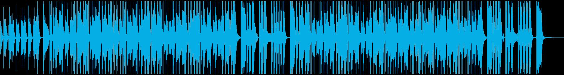 ほのぼのとした日常系BGMの再生済みの波形